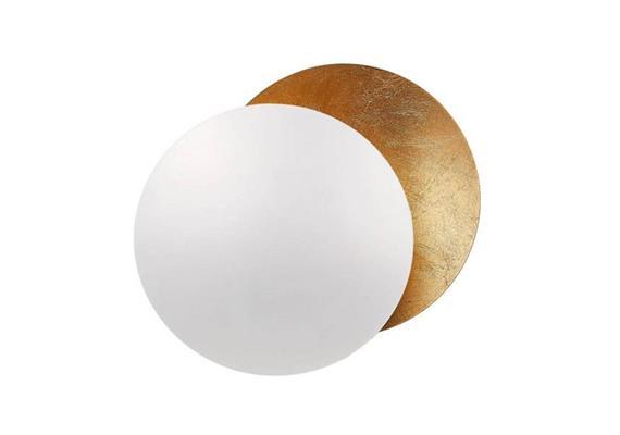 Wandleuchte Lederam W17 LED 17W/2700K weiss/gold 230V / 1700lm D=170 x T= 84 mm H=173