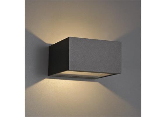 Wandleuchte POLAR LED up down 1x13.6W silbergrau 230V/24V/350mA DC/IP54 2700°K