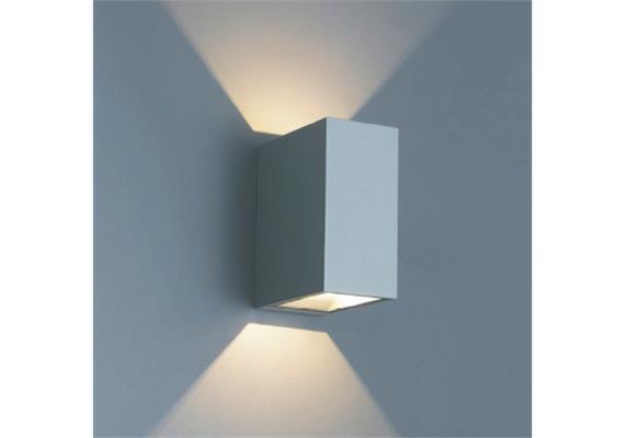 Wandleuchte QUBIT L LED 2x4.6W 2700°K dunkelgrau IP65 230V/24V/500mA DC/H=125 B=60 T=105