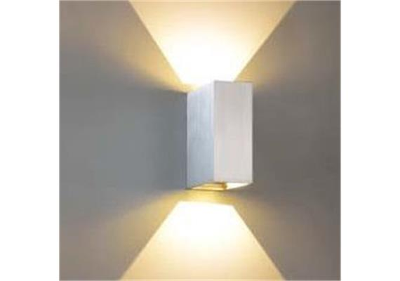 Wandleuchte Qubit L LED 2x4W 2700°K silbergrau 230V/24V/350mA DC / H=125 B=50 T=101