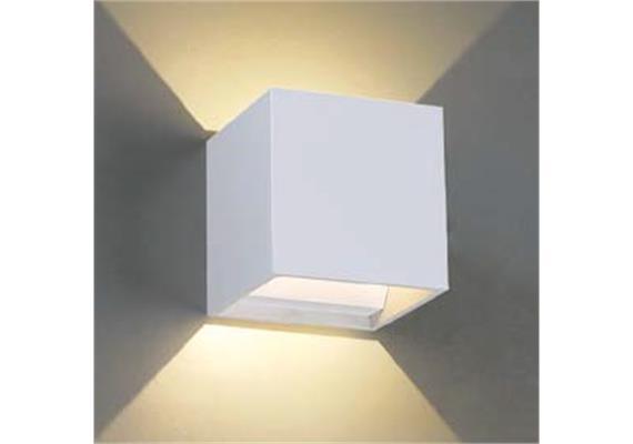 Wandleuchte Qubit Q LED 6.6W 2700°K alu satiniert 230V/24V/350mA DC / H=102 B=102T=102