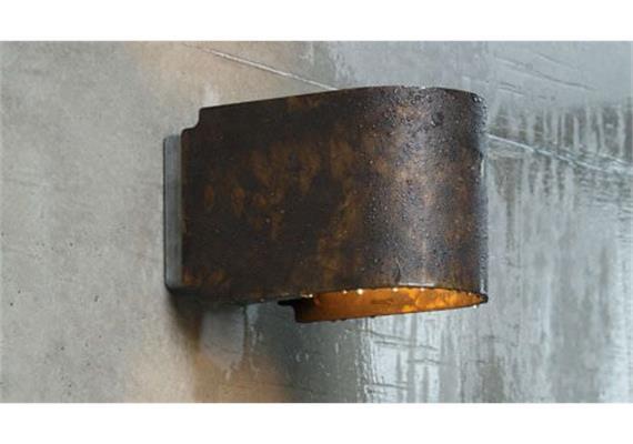 Wandleuchte Simple brass poliert