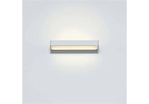 Wandleuchte SML LED M 15W TRIAC silber satiné/satiné  240V 2700K 1540lm B=220 T=85 H=25mm