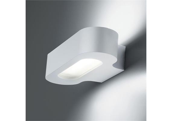 Wandleuchte Talo parete LED silbergrau 240V/ 20W 3000°K ww 1225lm IP20