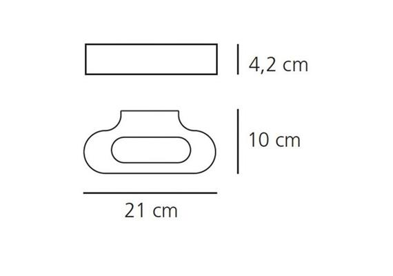 Wandleuchte Talo parete LED weiss dimmbar 230V 20W 2700K 1343lm L=210 H=42 T=100 IP20