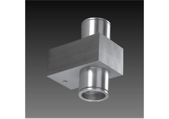 Wandleuchte Tibe LED WW 2x1.2W alu gebürstet 230V/24V/350mA DC/ H=88 B=46 T=65