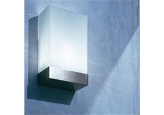 Wandleuchte TIN SQUARE Silber matt/weiss 1x100/E27/ 240V H=24 B=14.5 T=8.5