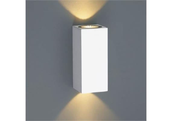 Wandleuchte TOX II LED up down 2x3W 2700°K silbergrauIP65 230V/350mA DC / L=50x50 H=120