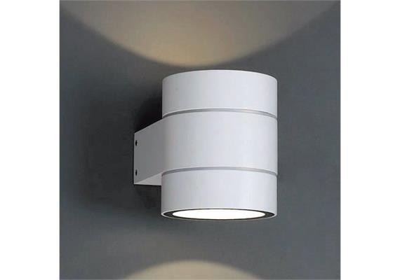 Wandleuchte Twin C LED 2x4W 2700°K IP54 alu gebürstet  230V/24V/350mA H=114 B=92 T=127