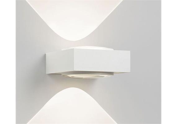 Wandleuchte Vision LED ww weiss-chrom 100-240V 2x1.6W 336lm 3000°K CRI80 IP20