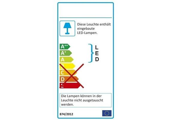 Wandspiegel LA PLUS BELLE LED 58W 2700K Alu glanz 230V 58W 5300lm 2700K, B=779 H=2055mm