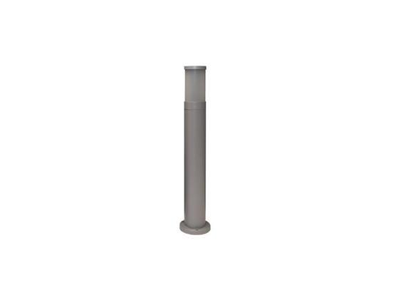 Wegleuchte Cilindro 90 silber 230V/E27/1x 60W/ H= 700mm D=92mm IP65