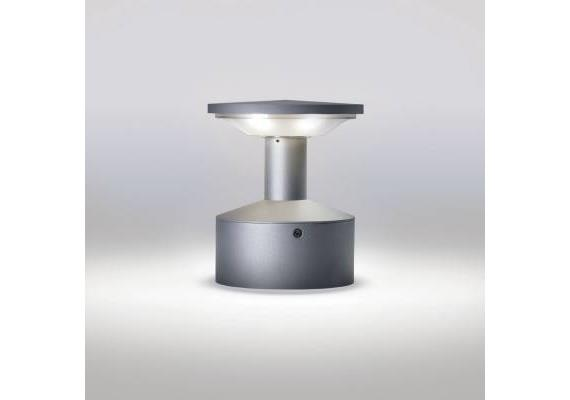 Wegstehleuchte Sektor 161 LED 6x1W 6500°K Alu 230V/ 350mA 6500°K IP65 H=228 D=185